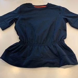 Lululemon Short Sleeve Peplum Sweatshirt